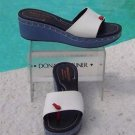 Donald Pliner $225 COUTURE DENIM COLOR LEATHER Shoe NIB NAIL HEAD DETAIL