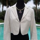 Cache $138 COTTON TWEED METALLIC LACE LINED Jacket Top NWT 0/2/4/6/8/10 XS/S/M/L