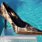 Donald Pliner $355 COUTURE HAIR CALF METALLIC LEATHER Pump Shoe NIB 8 SIGNATURE