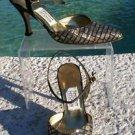 Timothy Hitsman ~$$$ GOLD SILVER BLACK METALLIC SEQUIN LEATHER- Shoe EUC 7.5