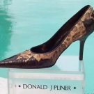 Donald Pliner $315 COUTURE GATOR LEATHER Pump Shoe NIB FRENCH LEOPARD TAPESTRY