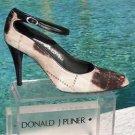 Donald Pliner $385 COUTURE GATOR LEATHER PLAID HAIR CALF Shoe NIB PUMP SIGNATURE