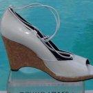 Donald Pliner $235 COUTURE PATENT LEATHER WEDGE Shoe NIB PEEP-TOE PLATFORM