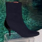 Donald Pliner COUTURE $325 GATOR LEATHER SILK CREPE ELASTIC Boot Shoe NIB 6.5