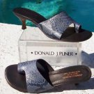 Donald Pliner $260 COUTURE COBRA LEATHER Shoe NIB SNAKE TOE-RING SANDAL