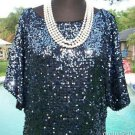 Cache $198 SEQUIN ENCRUSTED SPLIT SLEEVE EVENT DRESS NWT 0/2/4/6/8 LINED XS/S/M