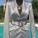 Cache $238 RHINESTONE SELF-BELT Top JACKET NWT 0/2/4/6/8/10/12 LINED SATIN EVENT
