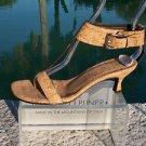 Donald Pliner COUTURE $325 NATURAL CORK LEATHER Shoe NIB WIDE ANKLE STRAP 6