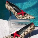 Donald Pliner $345 COUTURE HAIR CALF LEATHER Pump Shoe NIB 6 EXOTIC TOMATO