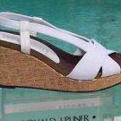 Donald Pliner $235 COUTURE PLATFORM METALLIC STRAW WEDGE Shoe NIB 10 CORK MID