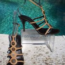 Donald Pliner $285 COUTURE CAMEL LEATHER Shoe NIB 10 EXOTIC STRAPPY SANDAL