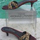 Donald Pliner $245 COUTURE CHITA HAIR CALF TOMATO GATOR Shoe NIB 5.5 SLIDE