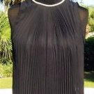 Cache $118 MOC NECK PEEK-A-BOO ACCORDION Top NWT S/M/L+ DRESS UP OR DOWN