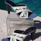 Donald Pliner $265 COUTURE NAPPA LEATHER Shoe NIB CRISS CROSS SANDAL EMBROIDERY