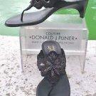 Donald Pliner $325 COUTURE BEADED LEATHER Shoe Sandal NIB THONG T-STRAP SIGNATUR