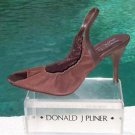 Donald Pliner $265 COUTURE PERFORATED SUEDE LEATHER Pump Shoe NIB PEEP-TOE