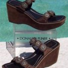 Donald Pliner $275 COUTURE SPORT SUEDE LEATHER WEDGE Shoe NIB 11 ORNATE HARDWARE