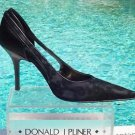 Donald Pliner $300 COUTURE EMBELLISHED SILK CUT-OUTS Shoe NIB 5.5 SLEEK CUT-OUTS