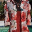 Cache Lot 2 $168 PEEK-A-BOO SHEER KRINKLE Top NWT TROPICAL OUTER SOLID CAMI