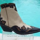 Donald Pliner $625 WESTERN COUTURE OIL SKIN CALF LEATHER BOOT Shoe NIB 6 6.5