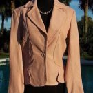 Cache $298 TEXTURE LEATHER JACKET Top NWT 0/2/4/6/10/12/14 BABY LIP PINK COLOR
