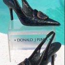Donald Pliner $310 COUTURE GATOR LEATHER Pump Shoe NIB SLINGBACK 6.5 7 BUCKLE