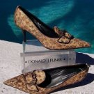 Donald Pliner COUTURE $345 LEATHER Pump Shoe NIB 6 FRENCH LEOPARD TAPESTRY