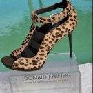 Donald Pliner $325 COUTURE EXOTIC HAIR CALF LEATHER Peep Toe Shoe NIB ELASTIC