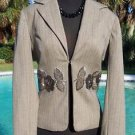 Cache  LUXE  $328 ELABORATE EMBELLISHED LINED Top SUIT JACKET NWT 0/2/4/6/8/10