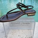 Donald Pliner $285 COUTURE METALLIC LEATHER Shoe Sandal NIB CHUNKY STONES 7.5