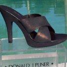 Donald Pliner $275 COUTURE PLATFORM SANDAL Shoe NIB METALLIC LEATHER SLIDE