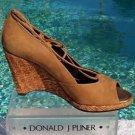 Donald Pliner $235 COUTURE SUEDE LEATHER WEDGE Shoe NIB PEEP-TOE PLATFORM 10 7.5