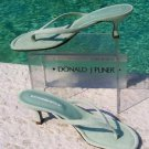 Donald Pliner $215 COUTURE SUEDE LEATHER Shoe Sandal NIB OCEAN MIST THONG