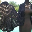 Cache $108 OPEN KNIT JACKET Top SHRUG NWT S/M/L  STRETCH WEAR ALL YEAR