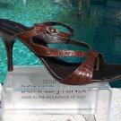 Donald Pliner $245 COUTURE KOGI GATOR LEATHER Shoe NIB T-STRAPPY SANDAL 11