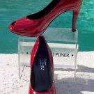 Donald Pliner COUTURE $295 PATENT LEATHER Shoe NIB 8.5 10 PEEP-TOE PLATFORM