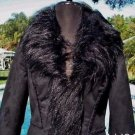 Cache $298 FOX Faux FUR SHEARLING LEATHER TRIM Coat NWT XS/S JACKET