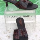 Donald Pliner COUTURE $285 TORTOISE PATENT LEATHER Shoe NIB 6.5 TOE RING