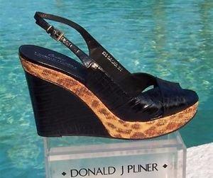 Donald Pliner $275 COUTURE KOGI GATOR LEATHER  WEDGE Shoe NIB SAND CONGO