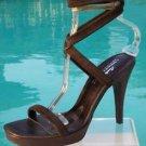 Donald Pliner $250 COUTURE SUEDE LEATHER Shoe NIB DOUBLE WRAP ANKLE STRAP
