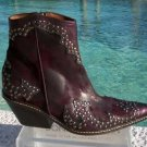 Donald Pliner $625 WESTERN COUTURE VINTAGE SUEDE CRUSHED LEATHER BOOT Shoe NIB