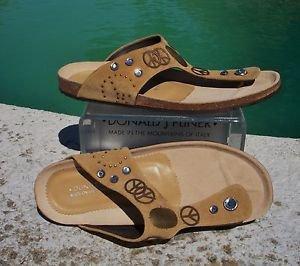 Donald Pliner $255 PEACE SUEDE LEATHER Shoe NIB SUEDE FOOTBED GEL SOLE 6 10 11