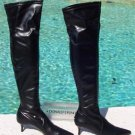 Donald Pliner $395 COUTURE NAPPA STRETCH LEATHER Boot Shoe NIB OVER THE KNEE