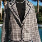 CHICO'S Chicos 2 3 $158 TEXTURE COAT Jacket Top NWT M/L/XL BOUCLE TWEED