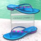 Donald Pliner $295 COUTURE METALLIC LEATHER Shoe Sandal NIB CHUNKY CRYSTAL