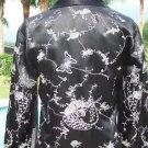 Cache SILK KIMONO $278 Top Jacket Dress NWT XS/S/M/L EMBROIDERY  WALL ART EXOTIC