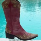Donald Pliner $650 WESTERN COUTURE OIL SKIN CALF LEATHER BOOT Shoe NIB 6.5 GENI