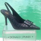 Donald Pliner $395 COUTURE DISTRESS METALLIC KOGI GATOR LEATHER Pump Shoe NIB