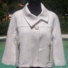 Cache $178 TEXTURED SWING LINED JACKIE O Jacket Top NWT XS/S/M/L OFF WHITE