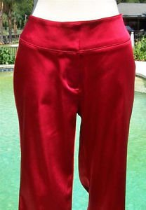Cache $128 SATIN FLAIR LEG Pant NWT 0/2/4 XS/S RED STRETCH EVENT WORK